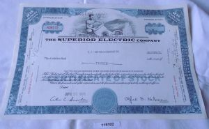 100 Dollar Aktie USA The Superior Electric Company Connecticut 10.04.1969