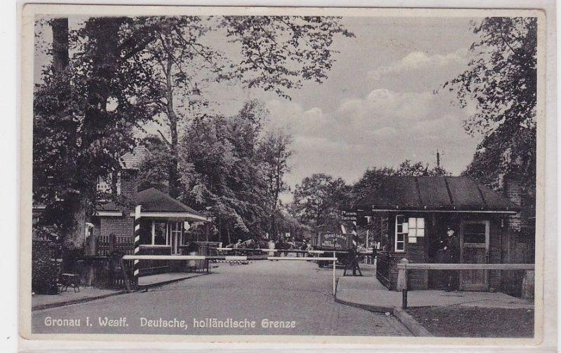 91269 Ak Gronau in Westfalen deutsche, holländische Grenze um 1940