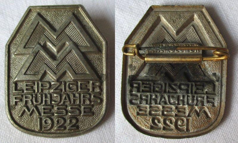 Blech Abzeichen Leipziger Frühjahrsmesse 1922 Einkäuferabzeichen (117713)
