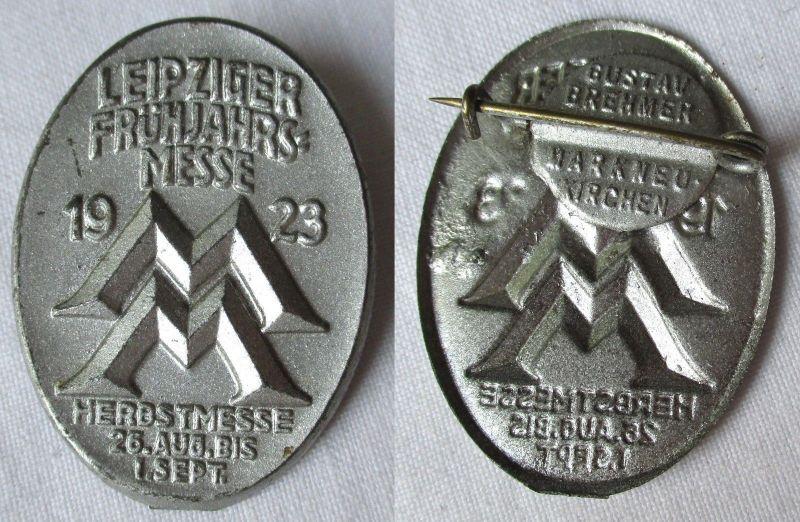 Blech Abzeichen Leipziger Frühjahrsmesse 1923 Besucherabzeichen (116085)