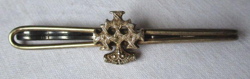 Elegante 800er Silber Krawattennadel Hiddenseeschmuck, Thorhammer (107272)