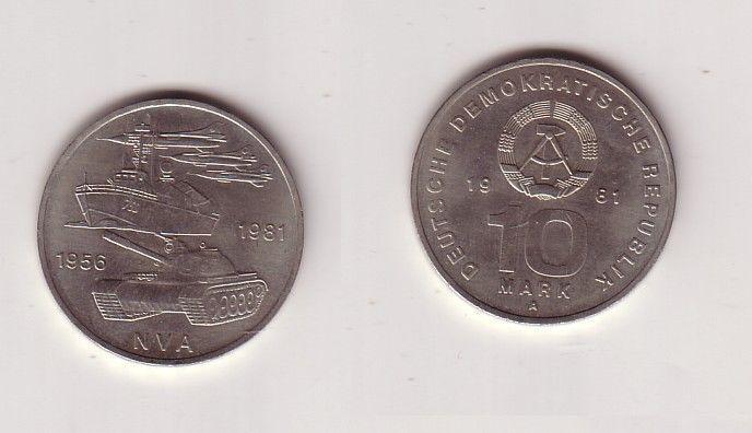 DDR Gedenk Münze 10 Mark 25 Jahre Nationale Volksarmee NVA 1981 (113270)