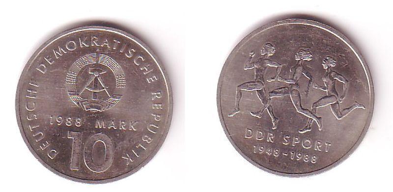 DDR Gedenk Münze 10 Mark 40 Jahre DDR Sport 1988 (109377)