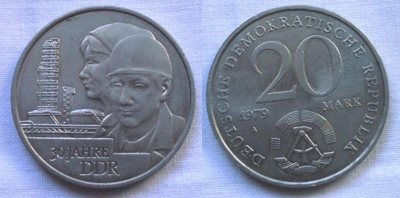 DDR Gedenk Münze 20 Mark 30.Jahrestag der DDR 1979 (114410)