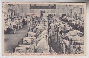 72719 Ak Dresden Rotes-Kreuz-Lazarett im Ausstellungspalast Stübelallee 1914