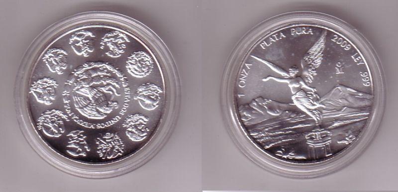 1 Onza Plata Pura Münze Mexiko 1 Unze 999 Silber Top 2009 112121