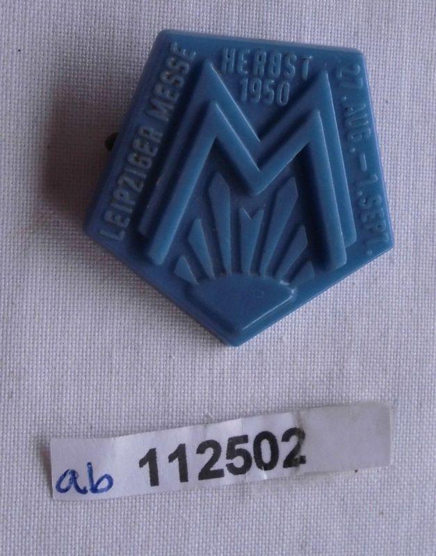 Abzeichen Leipziger Herbstmesse 1950 Ausstellerabzeichen (112502)