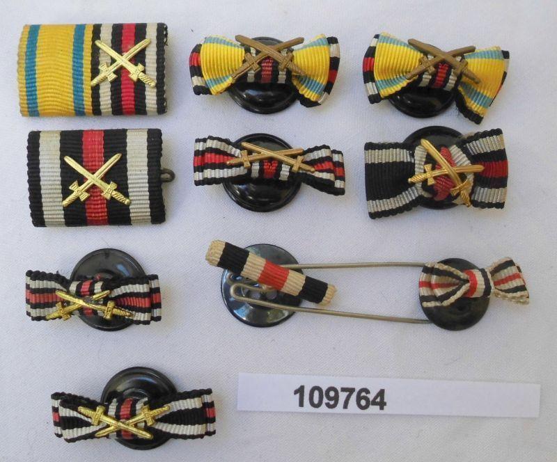 10 x Feldschnallen Interimsspangen zu Orden aus dem 1. Weltkrieg (109764)