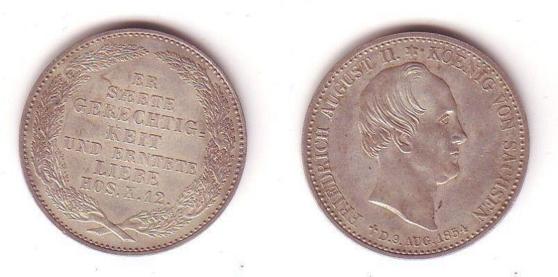 1/3 Taler Silber Münze Sachsen Friedrich August II. 1836-1854 (104949)