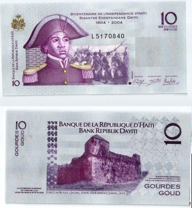 10 Gourdes Banknote Haiti 2012 kassenfrisch (123822)