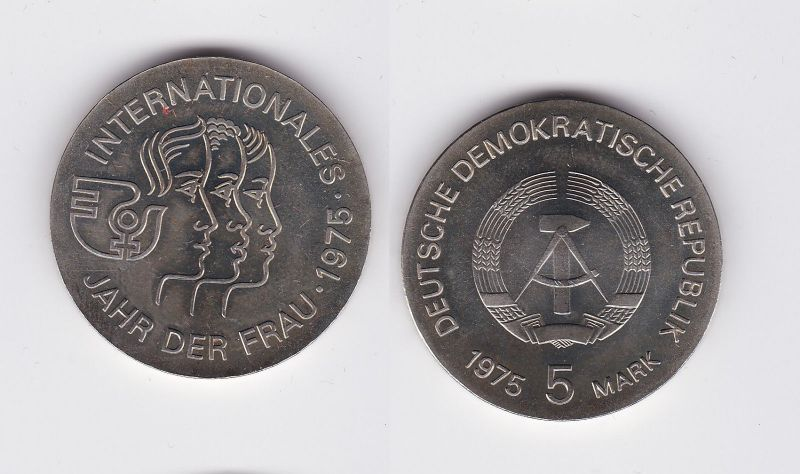 DDR Gedenk Münze 5 Mark Internationales Jahr der Frau 1975 (113303)