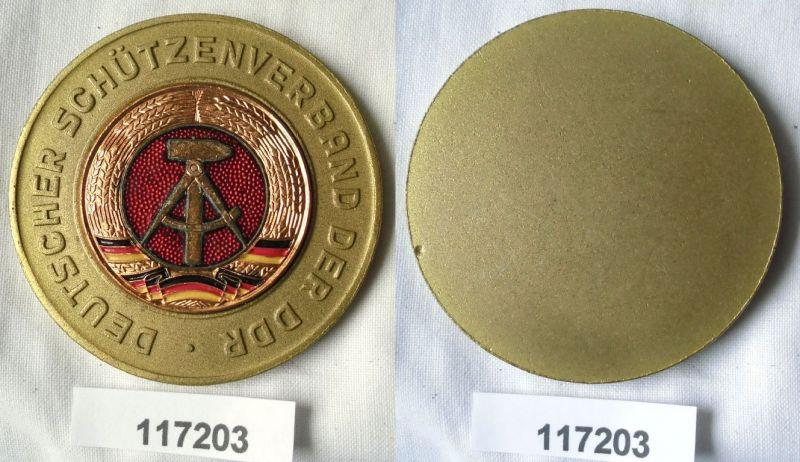 Seltene DDR Medaille Deutscher Schützenverband der DDR Gold (117203)