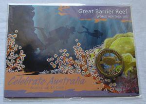 Australien 1 Dollar 2010 Celebrate Australia Great Barrier Reef OVP (104757)