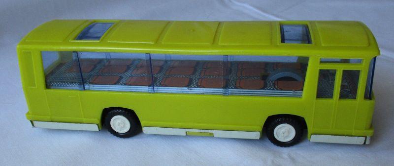 DDR Spielzeug Bus Bison Blech Plastik mit Schwungrad (105286)