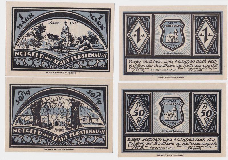 2 Banknoten Notgeld Stadt Fürstenau 1921 (119855)