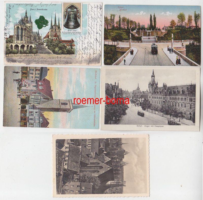 84325 / 5 Ak Erfurt Kirchen, Anger, Stadtpark um 1920