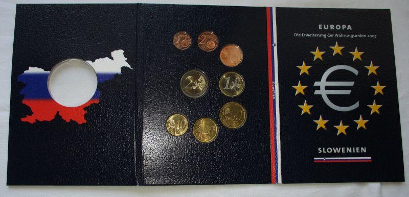 Euro Kursmünzensatz Slowenien 2007 bankfrisch in Originalverpackung (103468)