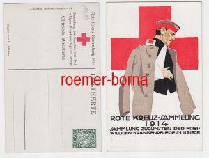 78080 Künstler Ak Rote Kreuz-Sammlung zugunsten d. freiw. Krankenpflege 1914