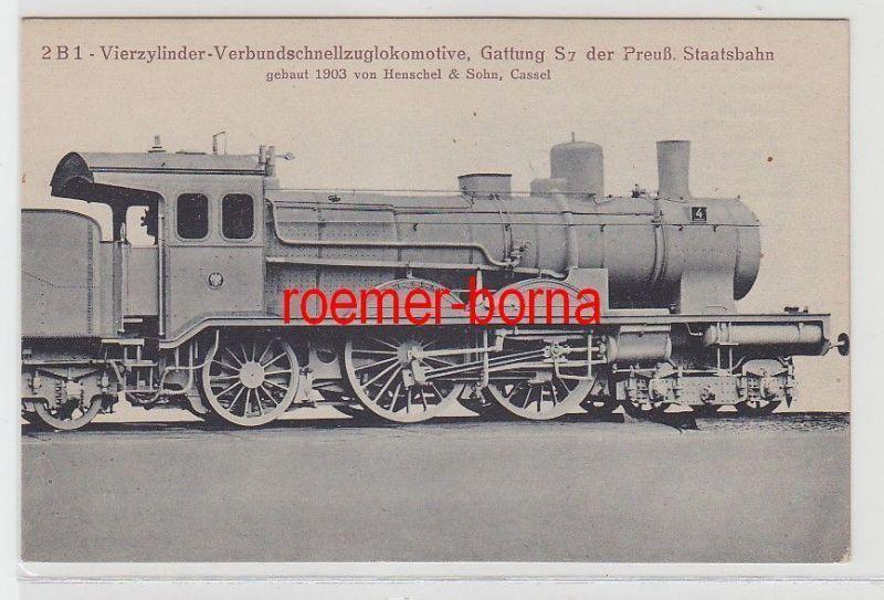66118 Ak  Henschel & Sohn Dampf Lokomotive S 7 der Preussischen Staatsbahn
