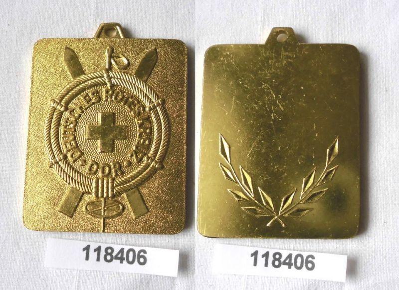 Seltene DDR Plakette DRK Bergrettungsdienst in Gold (118406)