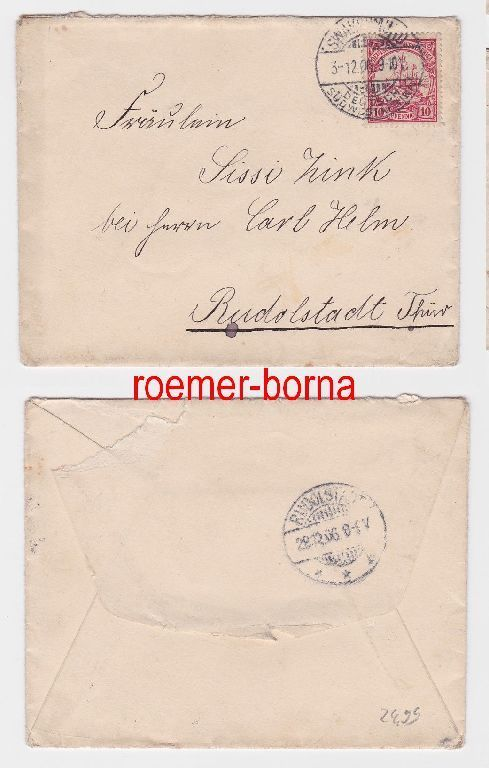 82044 Brief Deutsch Südwest Afrika Stempel Swakopmund 1906 Nr