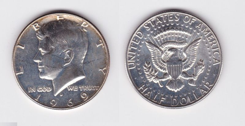12 Dollar Silber Münze Usa 1969 124506 Nr 332710248796