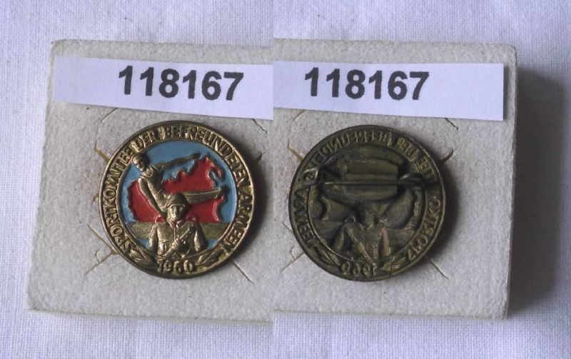 Seltenes DDR Blechabzeichen Sportkomitee der befreundeten Armeen 1960  (118167)