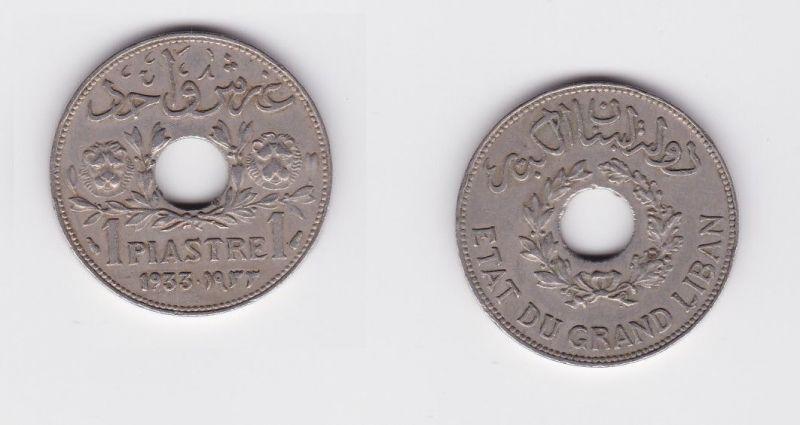 1 Piaster Kupfer Nickel Münze Libanon 1933 124465 Nr 332711184107