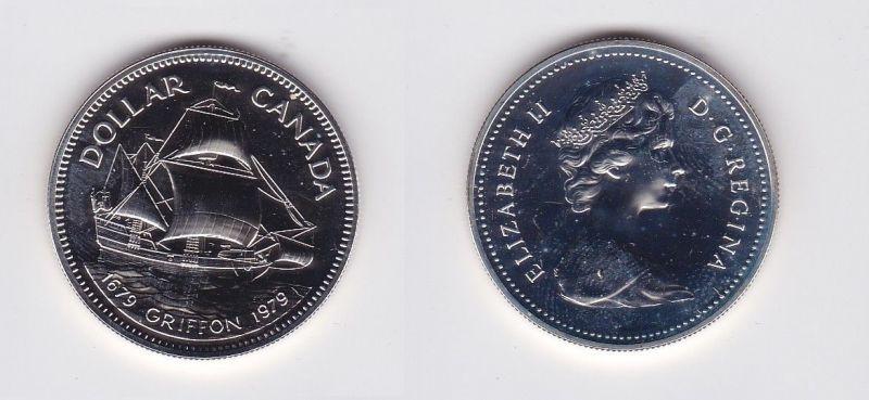 1 Dollar Silber Münze Kanada Handelschiff Griffon 1979 124348 Nr