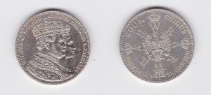 Schöne Silber Münze 1 Krönungstaler Preussen 1861 vz (124415)