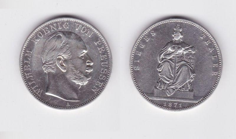 Schöne Silber Münze 1 Siegestaler Preussen 1871 Fvz 124492 Nr