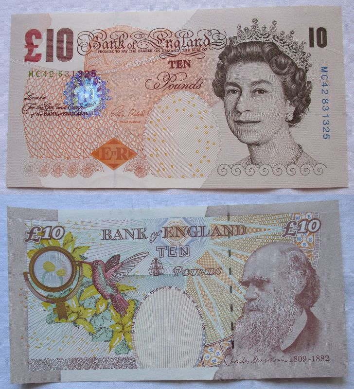 10 Pfund Banknote England Großbritannien United Kingdom 2000 (105187)