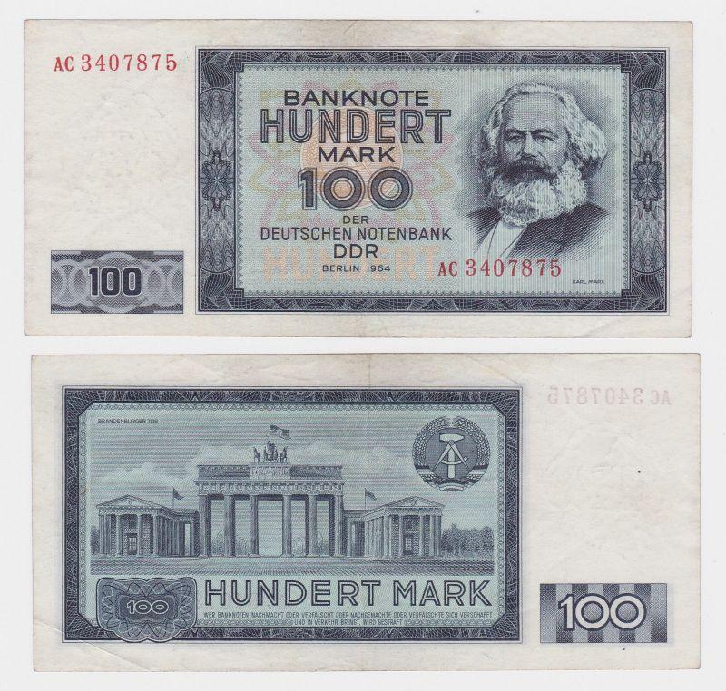 100 Mark Banknote DDR Deutsche Notenbank 1964 II bis III (107510)