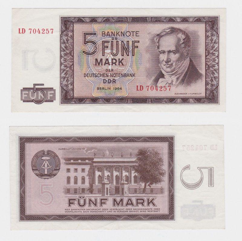 5 Mark Banknote DDR Deutsche Notenbank 1964 fast kassenfrisch (101181)