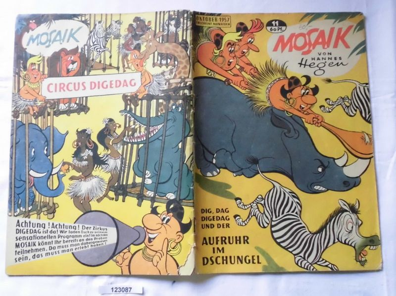 Mosaik von Hannes Hegen Digedag Nummer 11 von 1957 (123087)