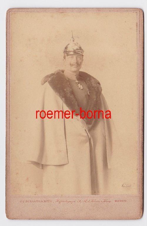 85316 Original Foto Deutscher Kaiser und König von Preussen Wilhelm II 1896