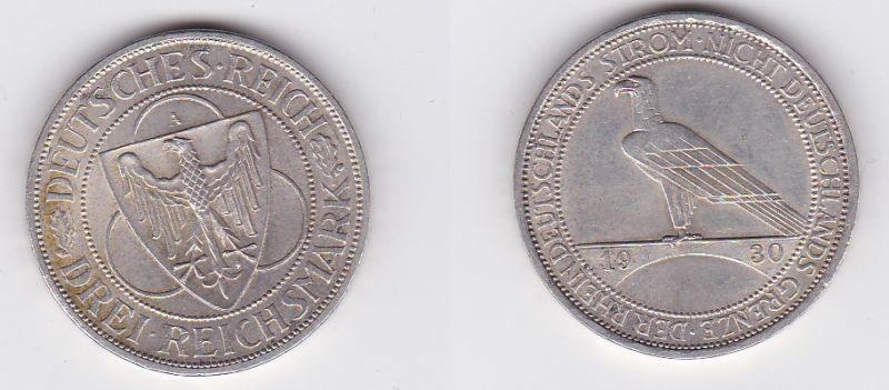 Silbermuenze 3 Mark Der Rhein 1930 A (123124)
