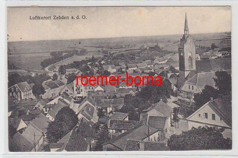 72945 Ak Luftkurort Zehden a.d.O. Cedynia Blick über die Dächer 1933