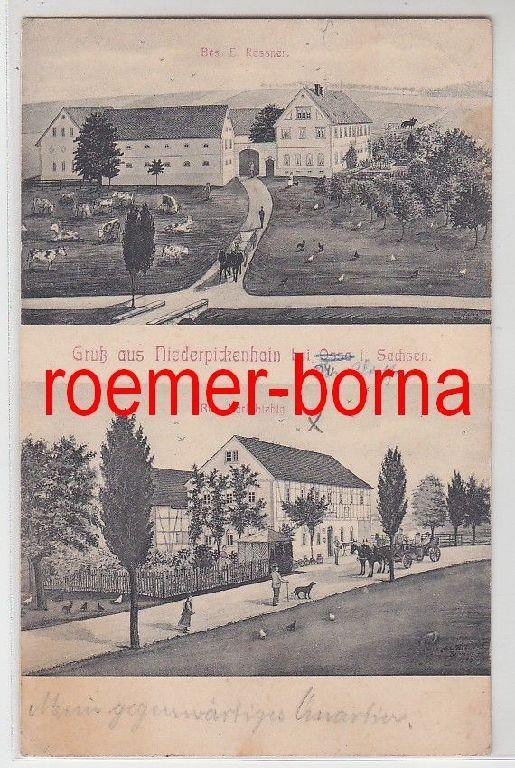 79361 Mehrbild Ak Gruß aus Niederpickenhain bei Ossa in Sachsen Gasthöfe 1911