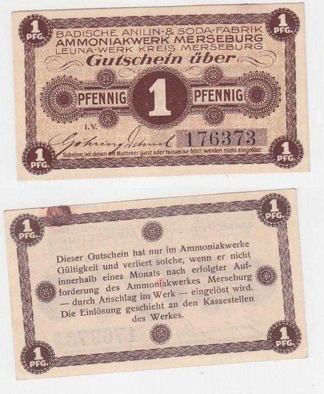 1 Pfennig Banknote Inflation Badische Anilin & Soda Fabrik Merseburg (111869)