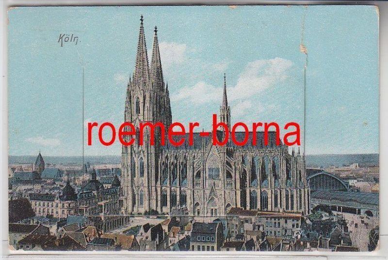 81189 Leporello Ak Die besten Grüsse aus Köln um 1910