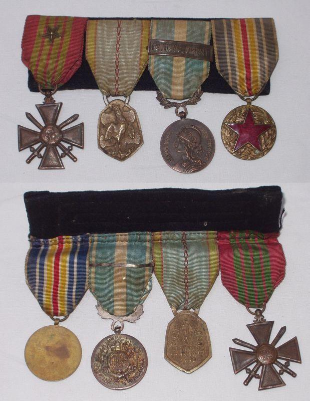 Ordensspange mit 4 Orden Frankreich 2. Weltkrieg (DI9097)