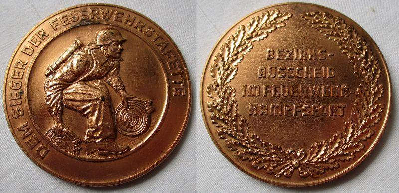 Seltene DDR Medaille Dem Sieger der Feuerwehrstafette in Bronze (119725)