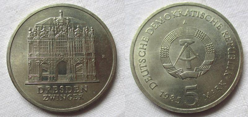 DDR Gedenk Münze 5 Mark Dresden Zwinger 1985 (118716)