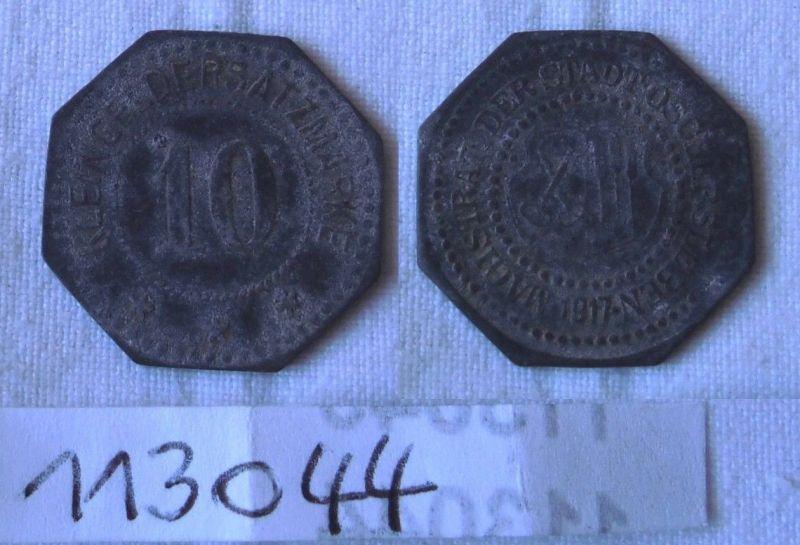 10 Pfennig Zink Münze Notgeld Stadt Oschersleben 1917 (113044)