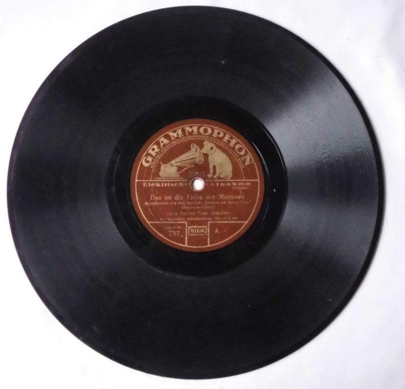 116224 Schellackplatte Grammophon