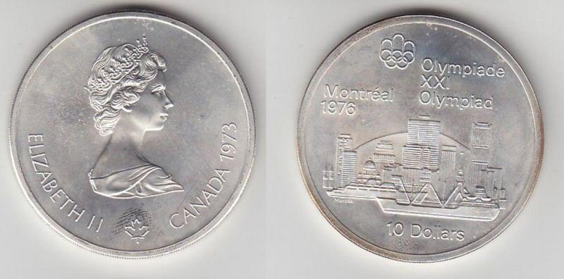 10 Dollar Silber Münze Canada Kanada Olympiade Montreal