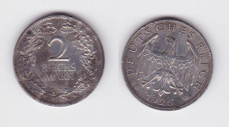 2 Mark Silber Münze Deutsches Reich 1926 E 124360 Nr 232861416423