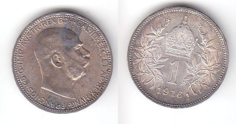 1 Krone Silber Münze Österreich 1916 (115397)