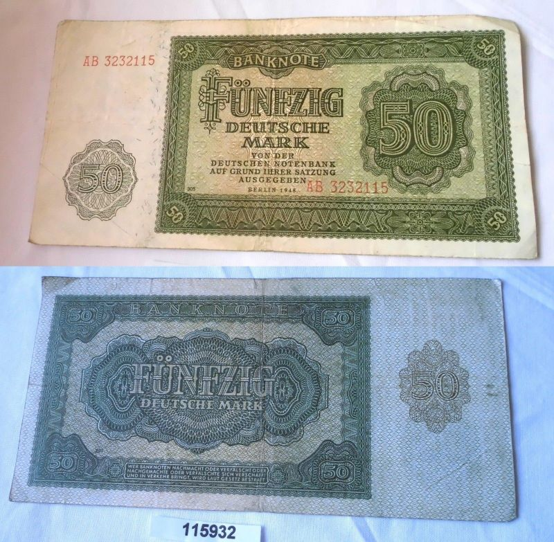 50 Mark Banknote DDR Deutsche Notenbank 1948 (115932)